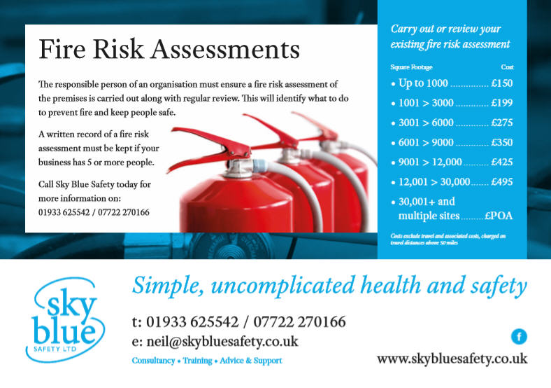 Sky Blue Safety Fire Risk Assessments Price List